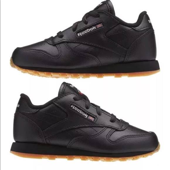 782352b5551 Reebok Classic Leather Shoes Toddler Black Gum 4. M 5b509ce8d6716af601131737